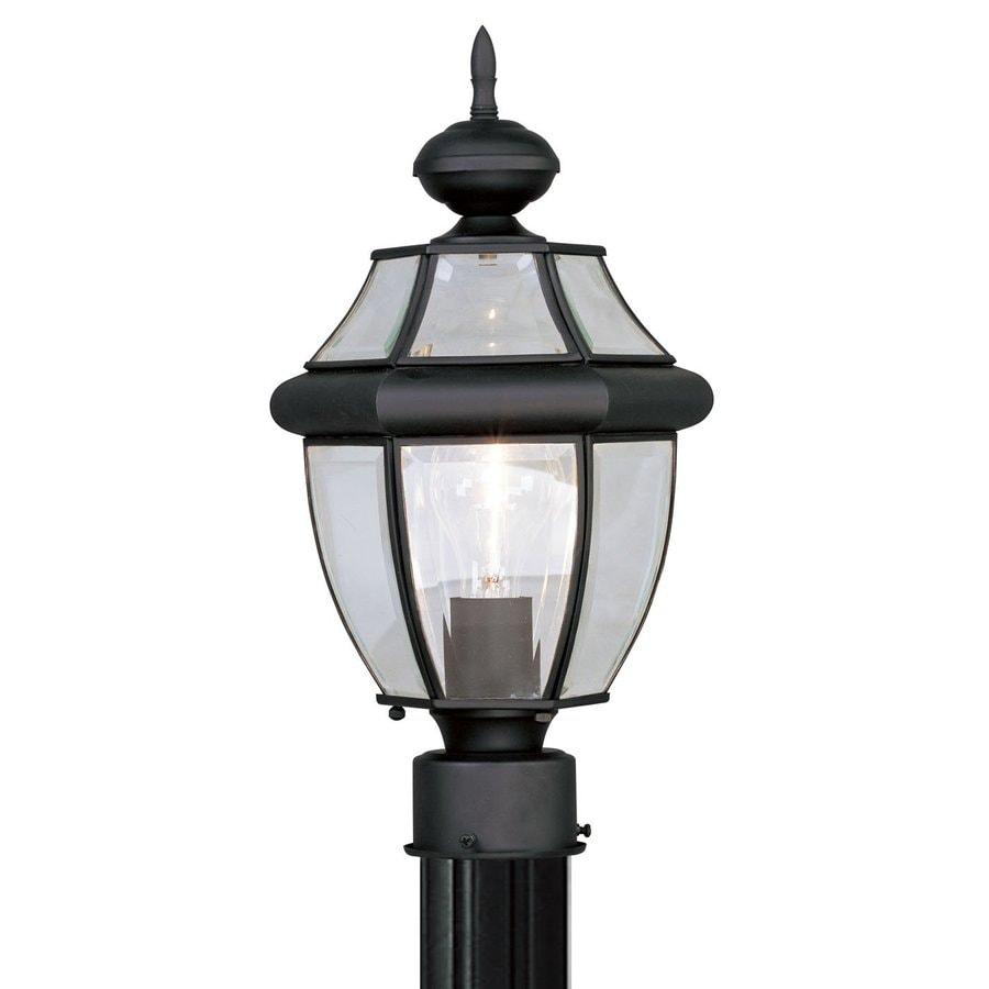 Livex Lighting Monterey 15.75-in H Black Post Light