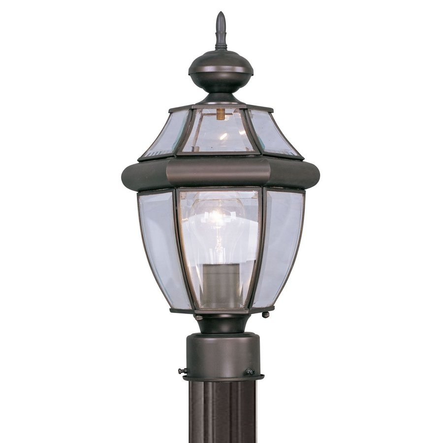 Livex Lighting Monterey 15.75-in H Bronze Post Light