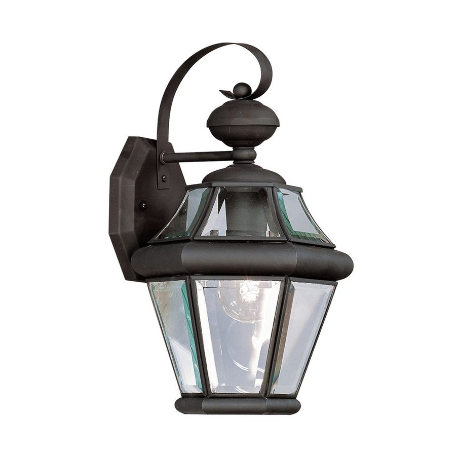 Livex Lighting Georgetown 15-in H Black Medium Base (E-26) Outdoor Wall Light