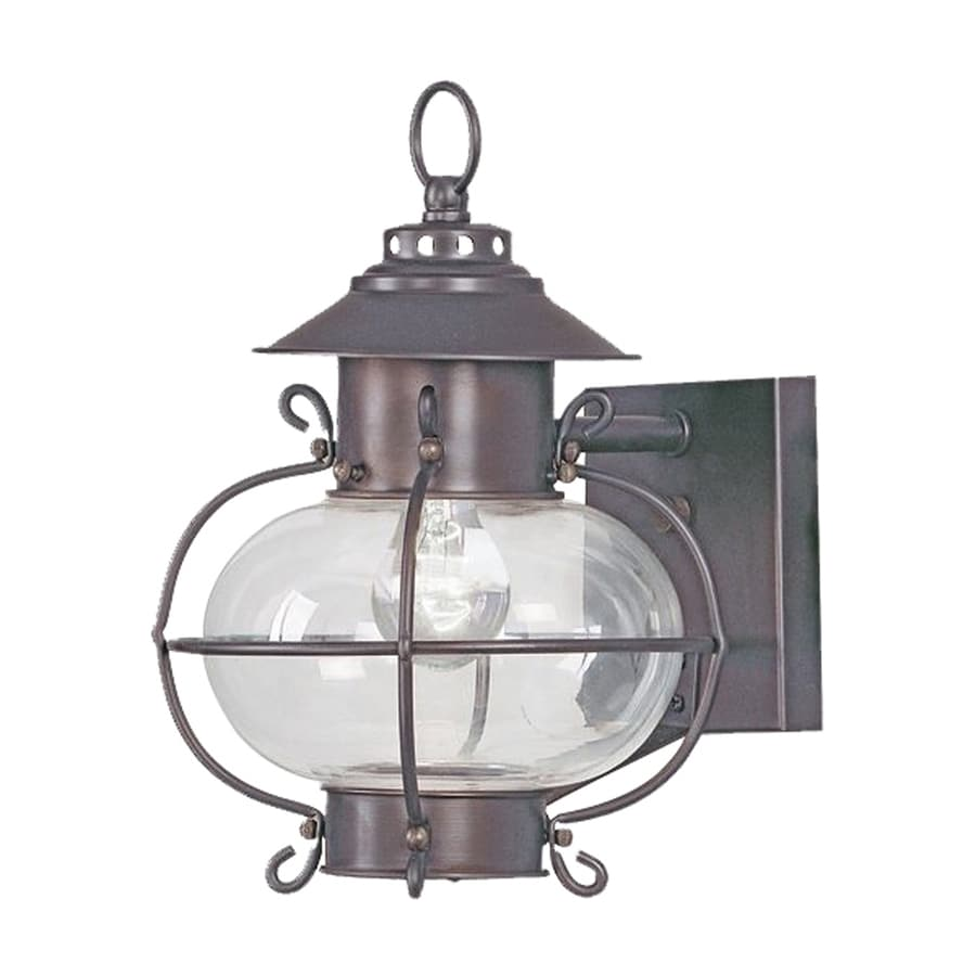 Shop Livex Lighting Harbor 11.25-in H Bronze Outdoor Wall Light at Lowes.com