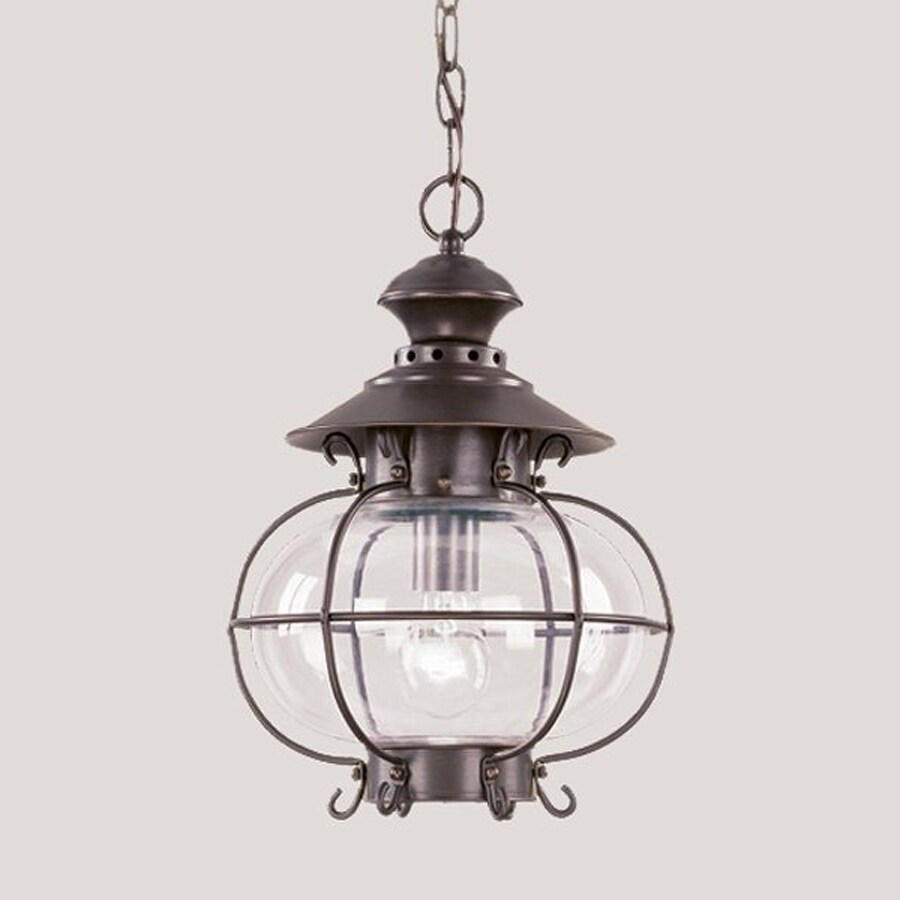 Livex Lighting Harbor 15-in Bronze Hardwired Outdoor Pendant Light