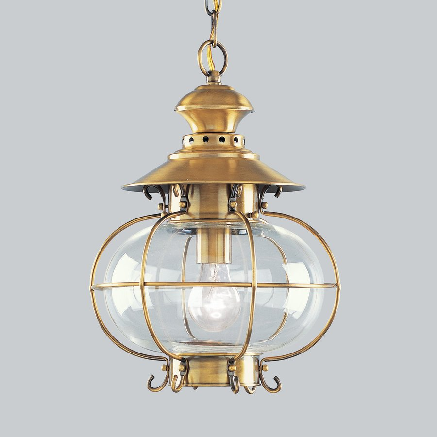 Shop Livex Lighting Harbor 15 In Flemish Brass Hardwired