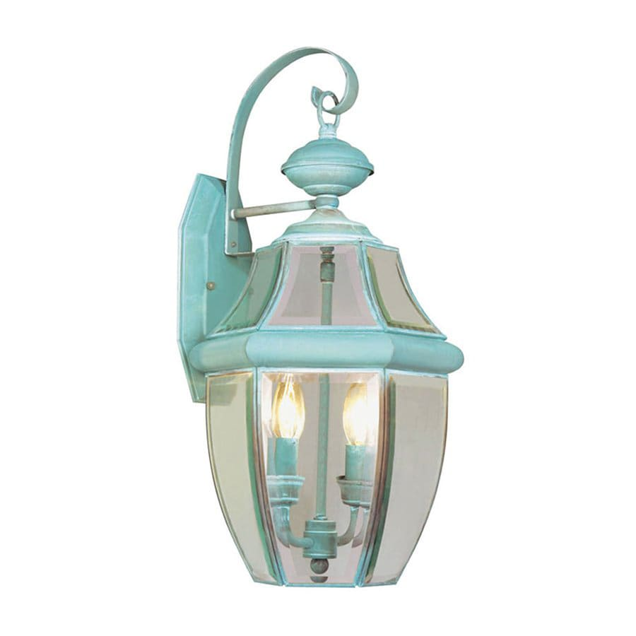 Livex Lighting Monterey 20.25-in H Verdigris Outdoor Wall Light