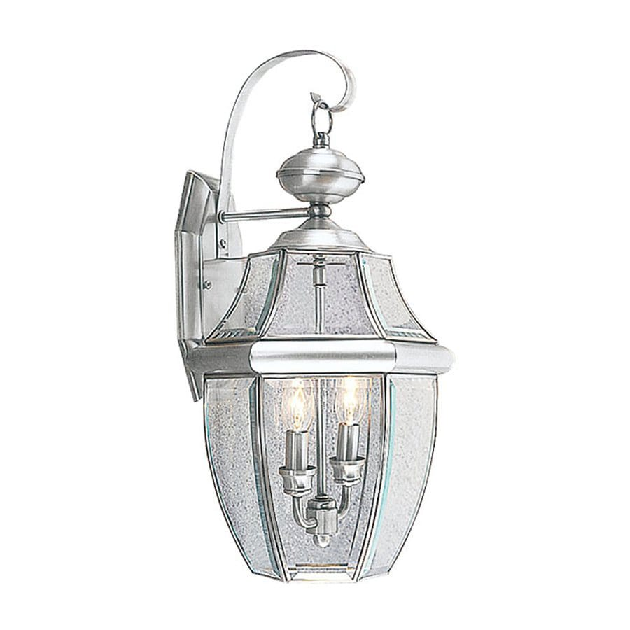 Livex Lighting Monterey 20.25-in H Brushed Nickel Outdoor Wall Light
