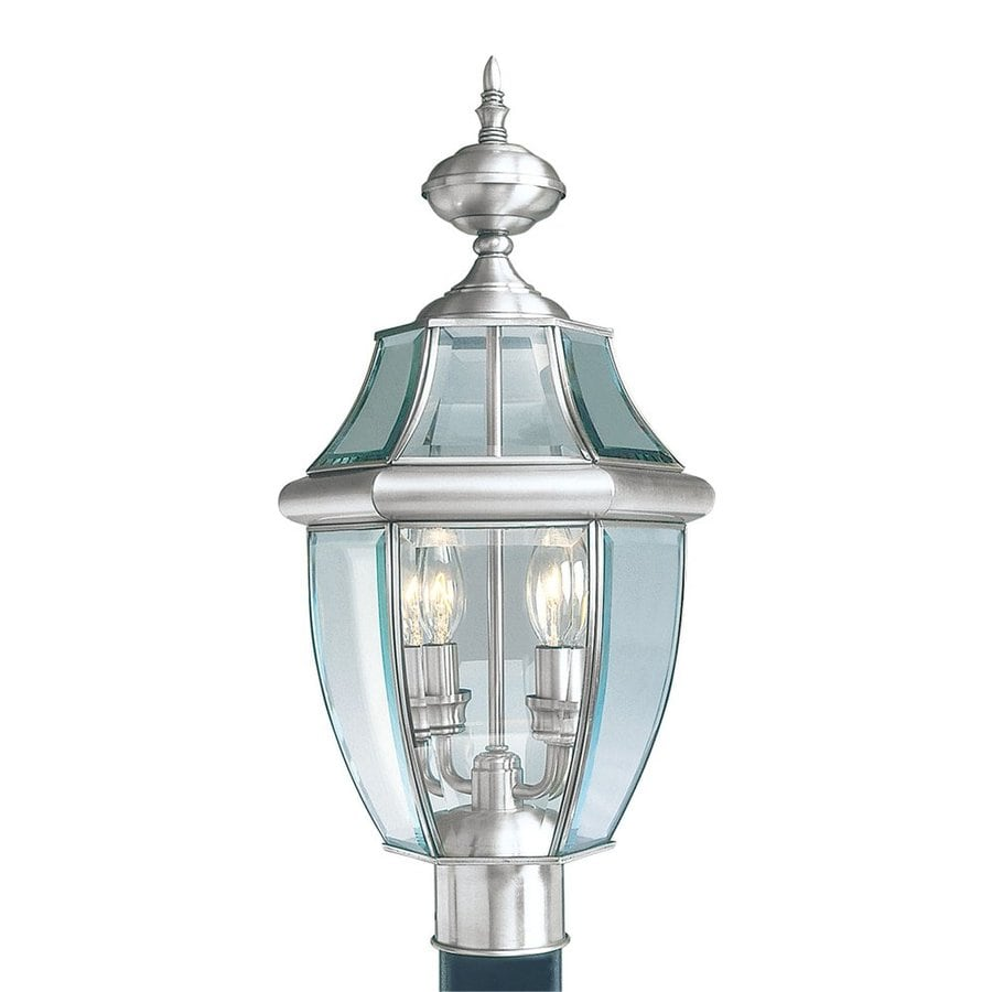 Livex Lighting Monterey 21.5-in H Brushed Nickel Post Light