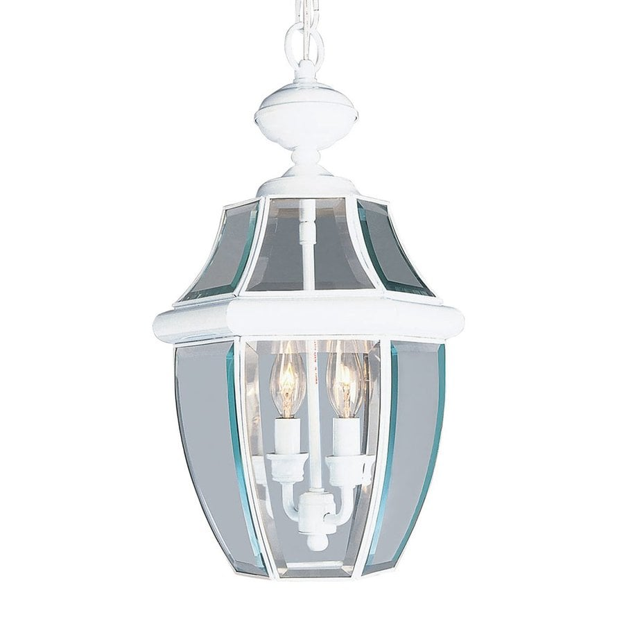 Livex Lighting Monterey 19-in White Outdoor Pendant Light