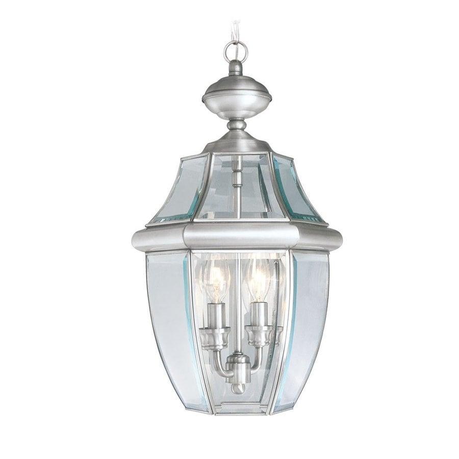 Livex Lighting Monterey 19-in Brushed Nickel Outdoor Pendant Light