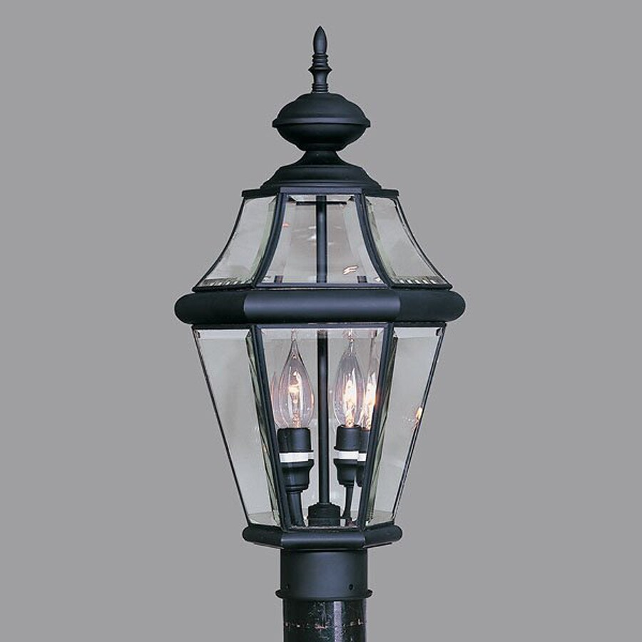 Livex Lighting Georgetown 21-in H Black Post Light