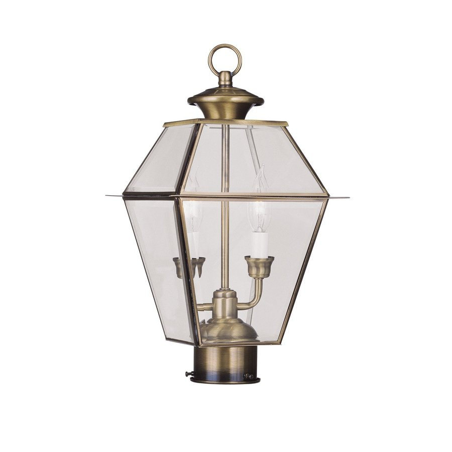 Livex Lighting Westover 16.5-in H Antique Brass Post Light