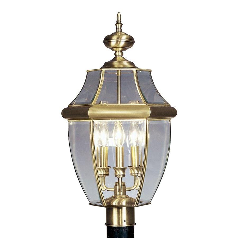 Livex Lighting Monterey 23.5-in H Antique Brass Post Light