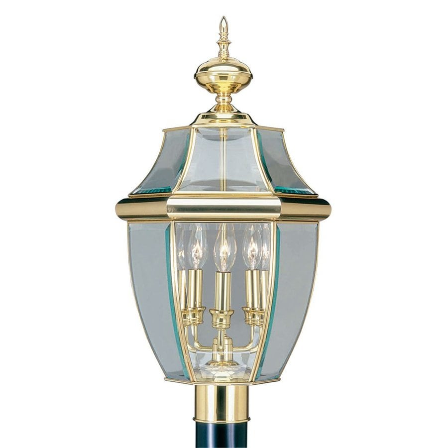 Livex Lighting Monterey 23.5-in H Polished Brass Post Light