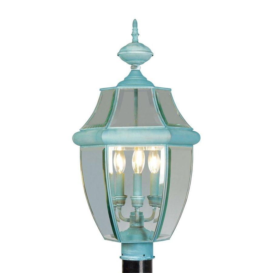 Livex Lighting Monterey 23.5-in H Verdigris Post Light