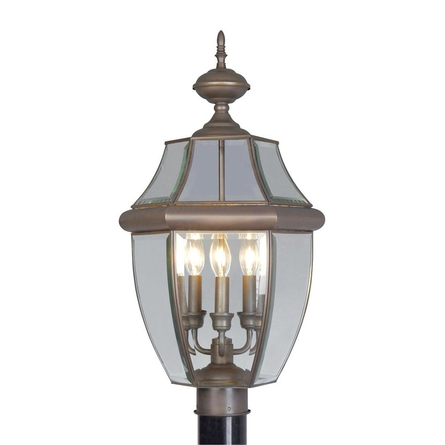 Livex Lighting Monterey 23.5-in H Bronze Post Light