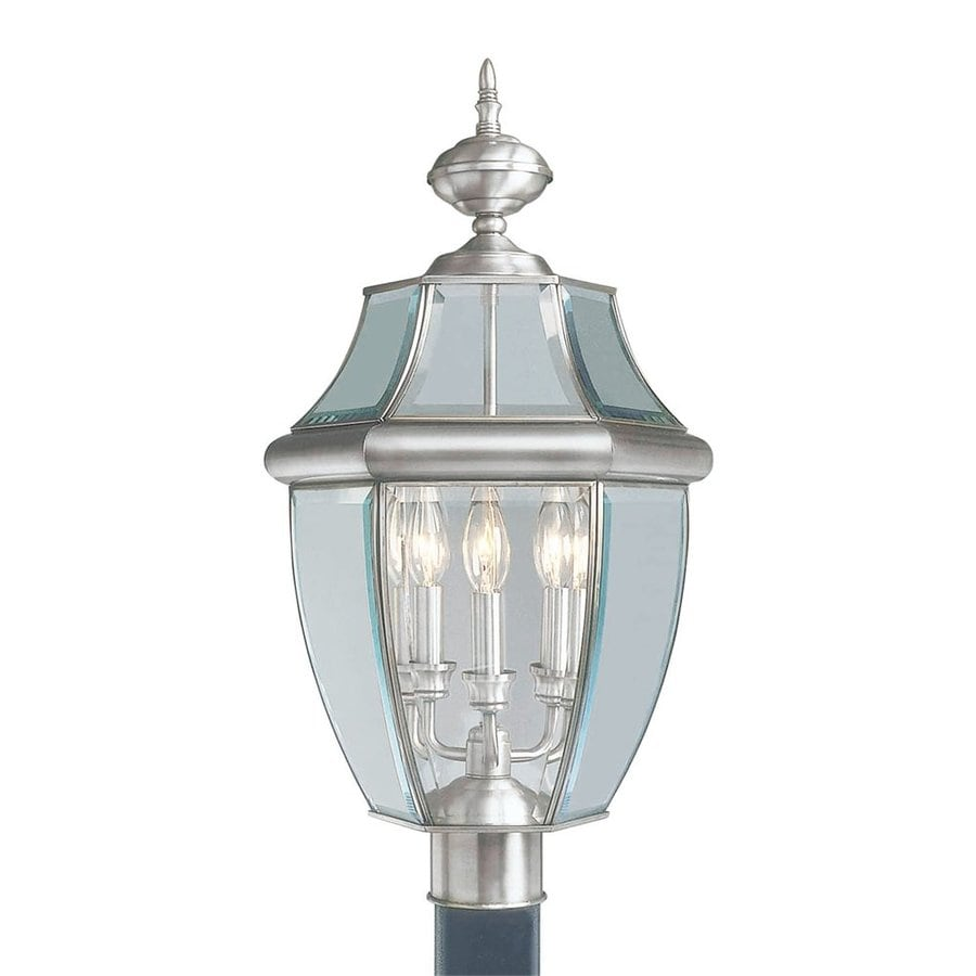 Livex Lighting Monterey 23.5-in H Brushed Nickel Post Light