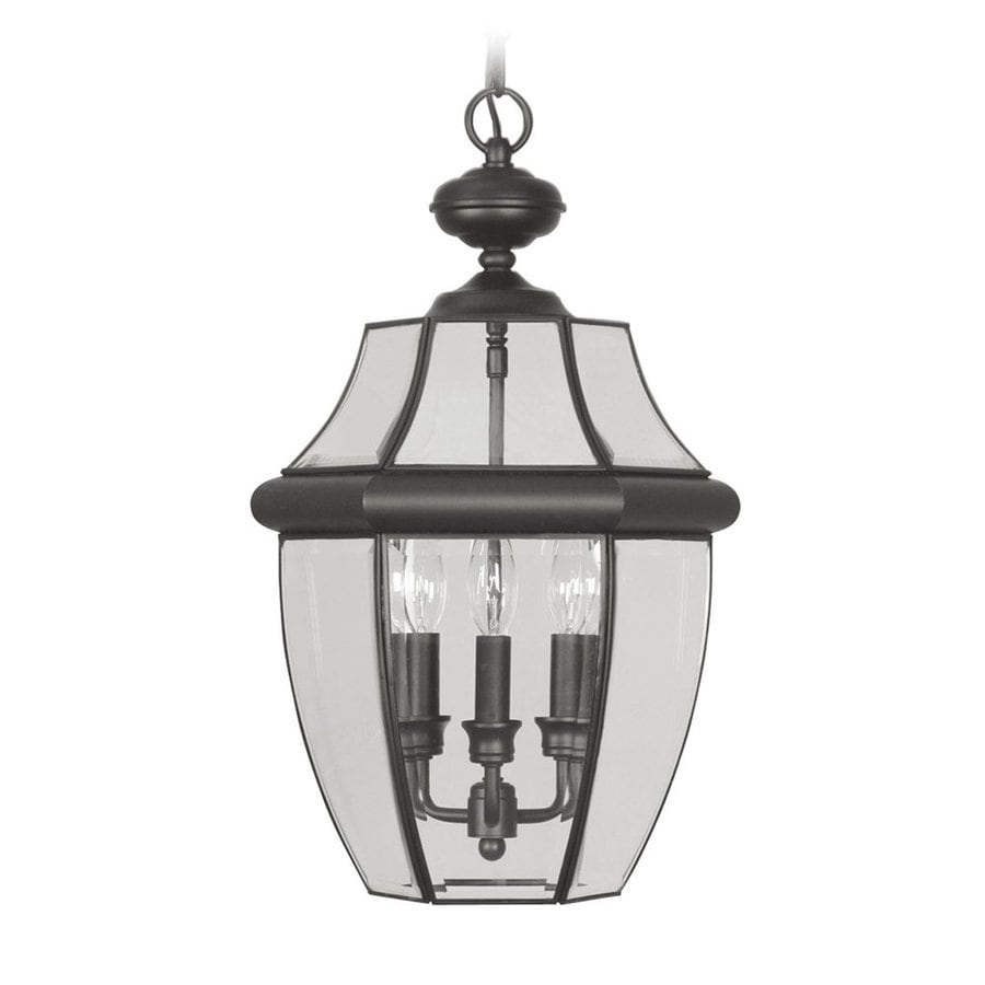 Livex Lighting Monterey 21-in Black Outdoor Pendant Light