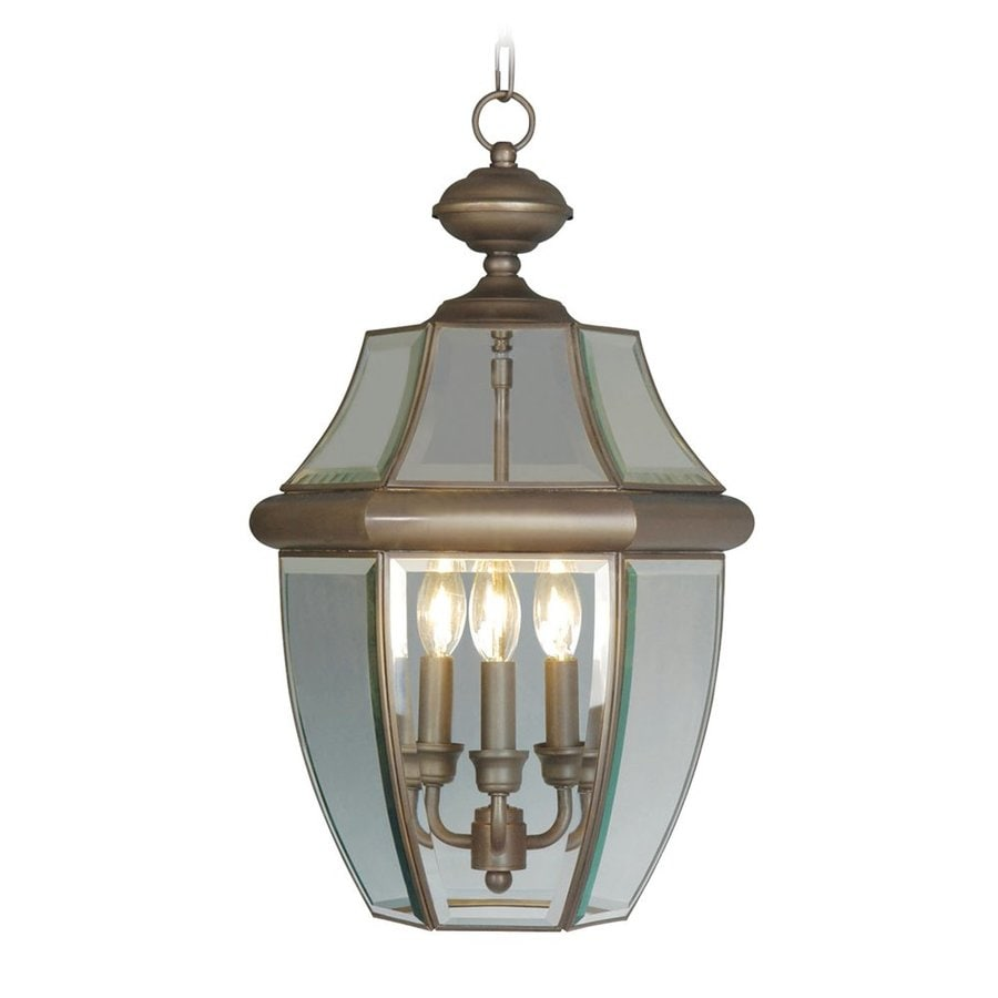Shop livex lighting monterey 21 in bronze outdoor pendant Outdoor pendant lighting