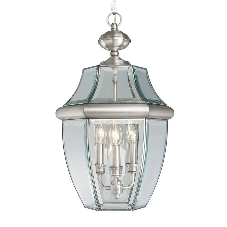 Livex Lighting Monterey 21-in Brushed Nickel Outdoor Pendant Light