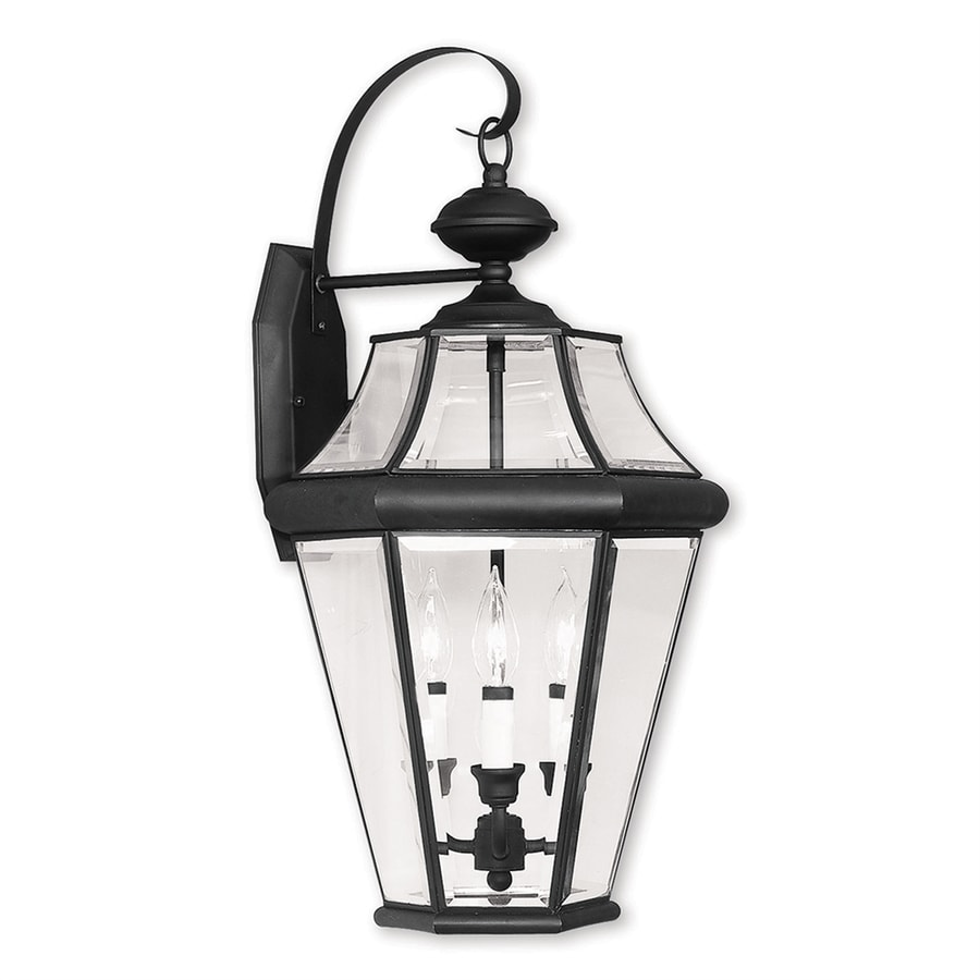 Livex Lighting Georgetown 24-in H Black Outdoor Wall Light