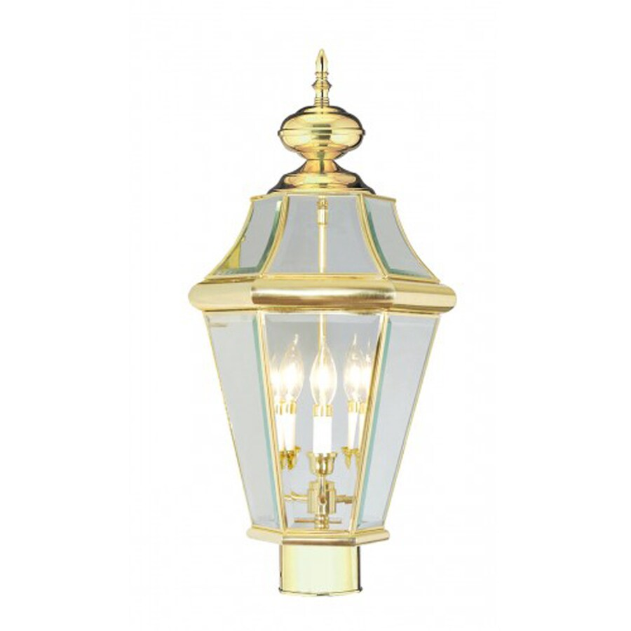 Livex Lighting Georgetown 23.75-in H Polished Brass Post Light