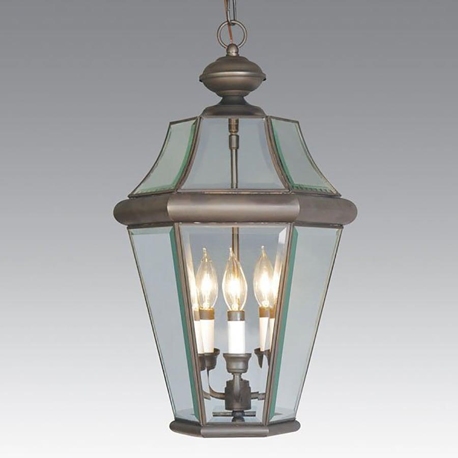 Livex Lighting Georgetown 21-in Bronze Outdoor Pendant Light