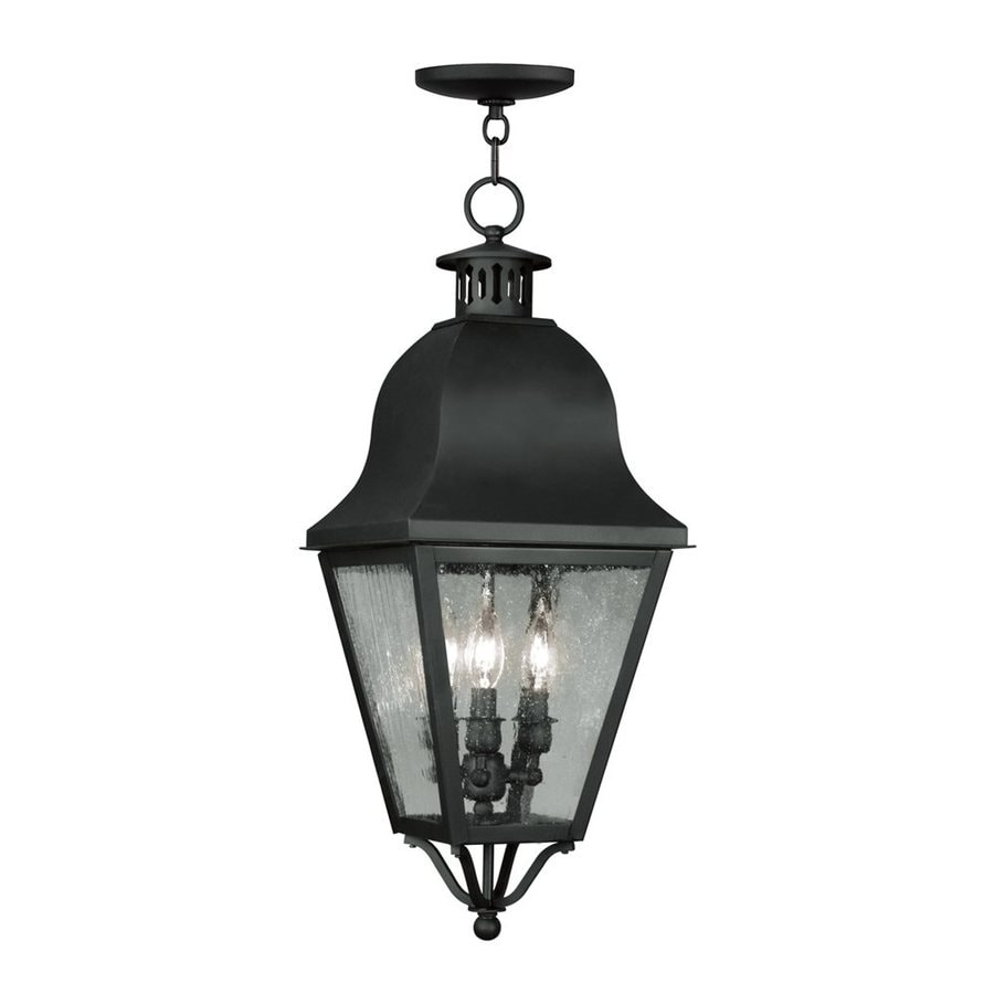Livex Lighting Amwell 27.5-in H Black Outdoor Pendant Light