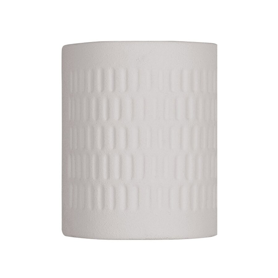Livex Lighting Outdoor Basics 10-in H Textured White Outdoor Wall Light