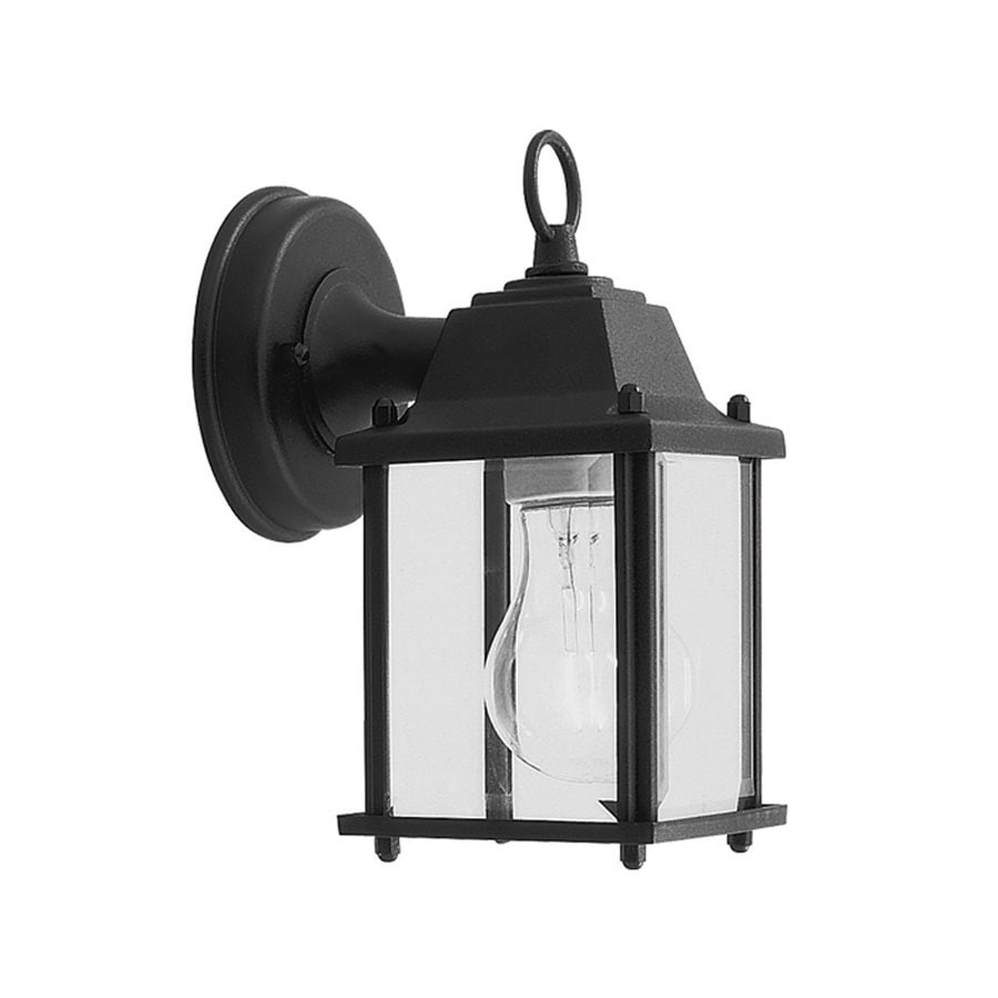Livex Lighting Basics 8-in H Black Outdoor Wall Light