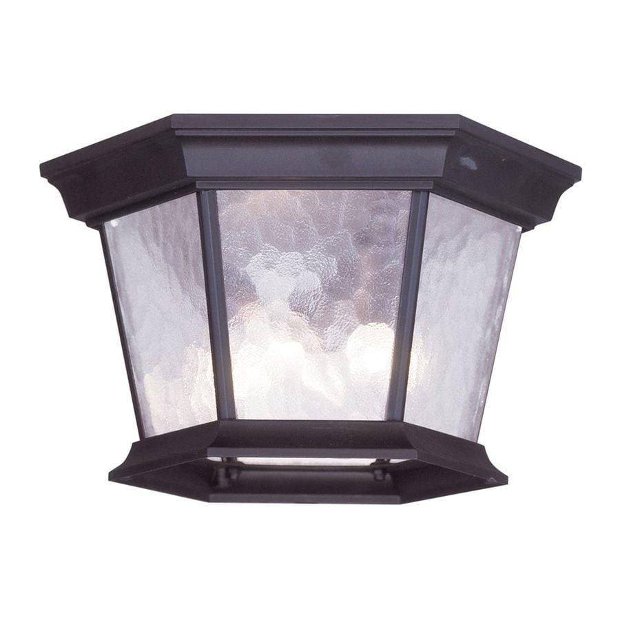 Livex Lighting Hamilton11-in W Bronze Outdoor Flush Mount Light