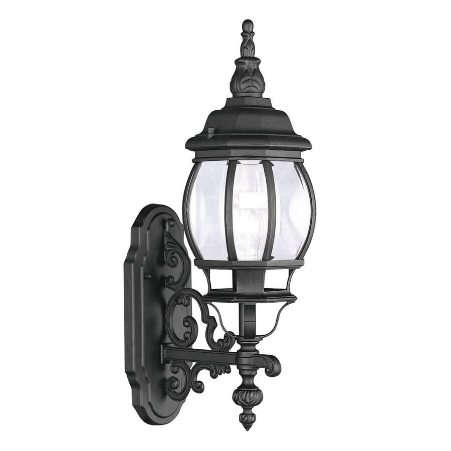 Livex Lighting Frontenac 21-in H Black Outdoor Wall Light