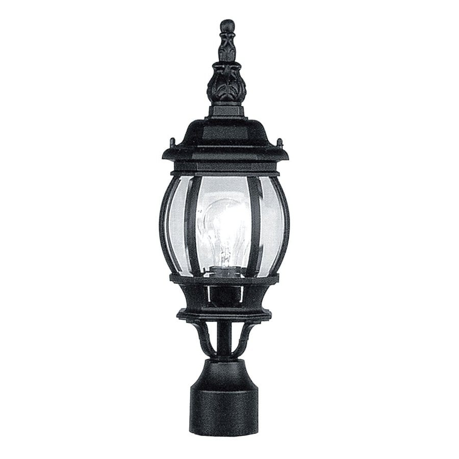 Livex Lighting Frontenac 18.5-in H Black Standard Post Light