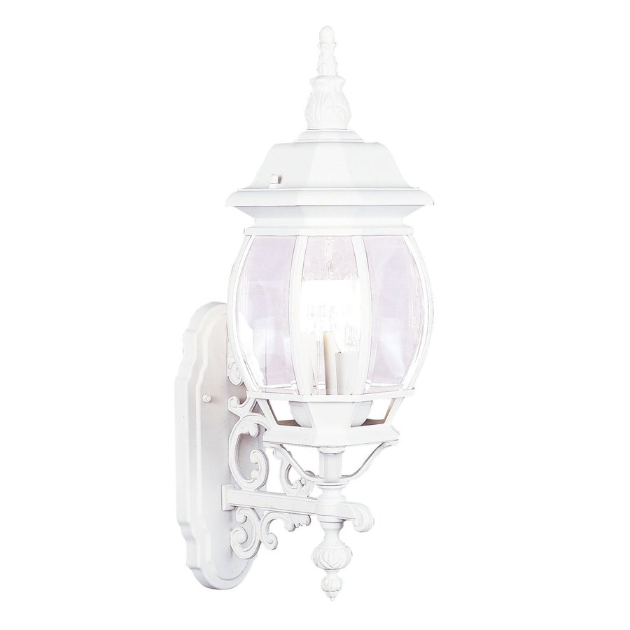 Livex Lighting Frontenac 23-in H White Outdoor Wall Light