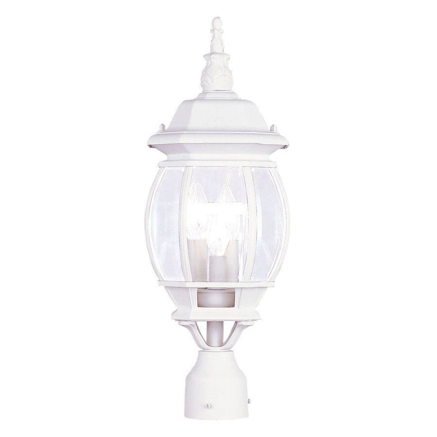 Livex Lighting Frontenac 22-in H White Post Light