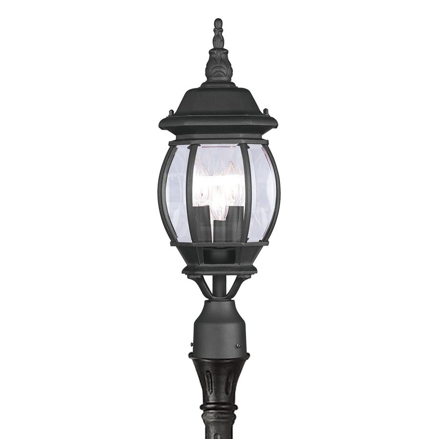 Livex Lighting Frontenac 22-in H Black Post Light