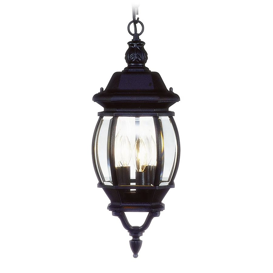 Livex Lighting Frontenac 21-in H Black Outdoor Pendant Light