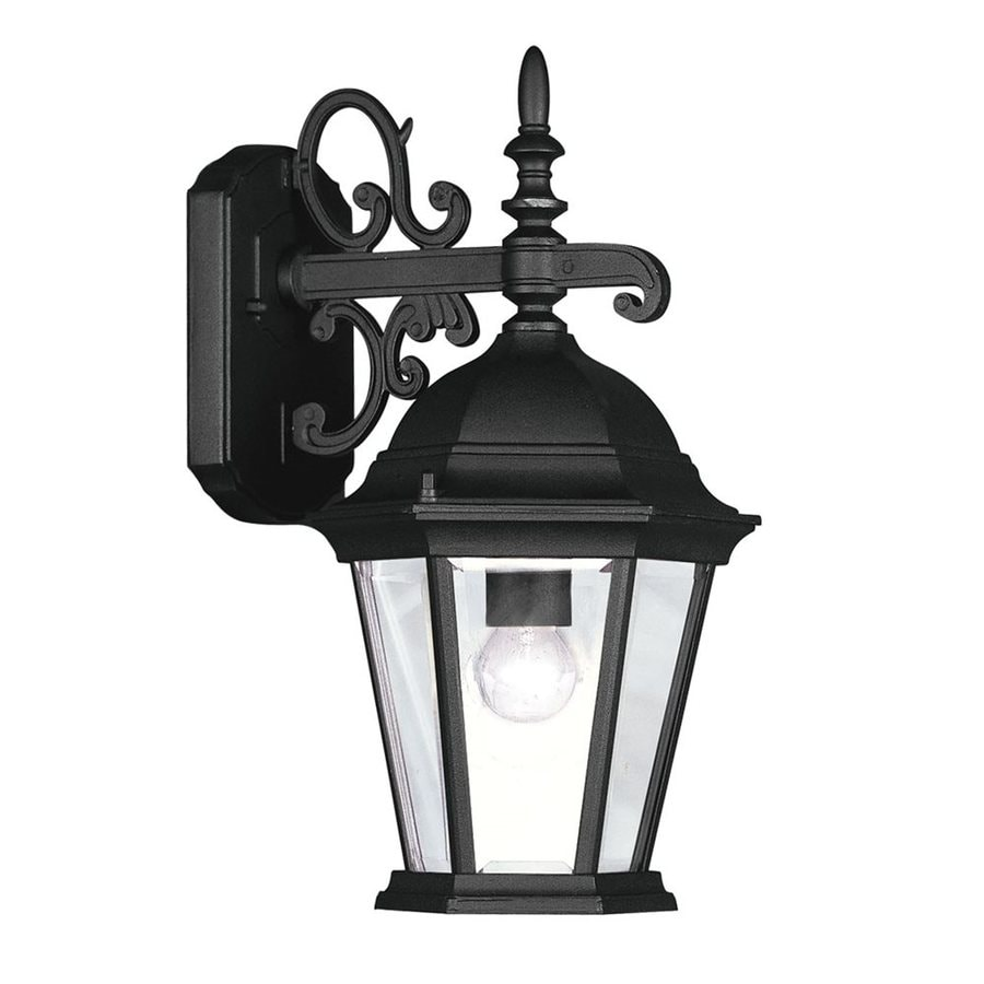 Livex Lighting Hamilton 20-in H Black Outdoor Wall Light