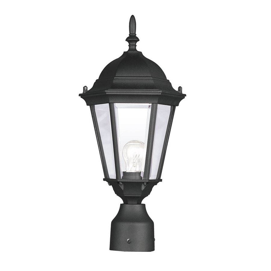 Livex Lighting Hamilton 18-in H Black Standard Post Light