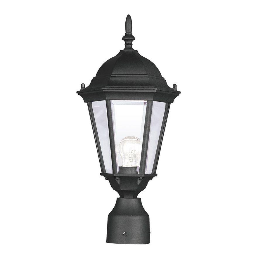Livex Lighting Hamilton 18-in H Black Post Light