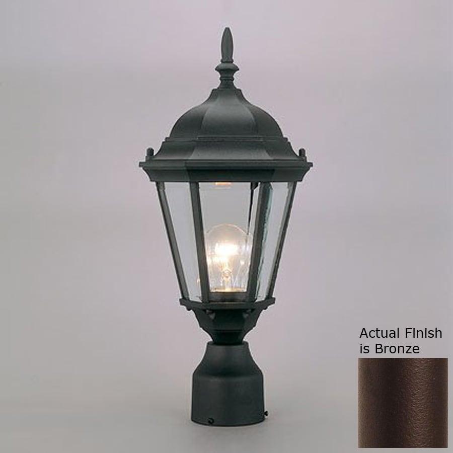 Livex Lighting Hamilton 18-in H Bronze Post Light