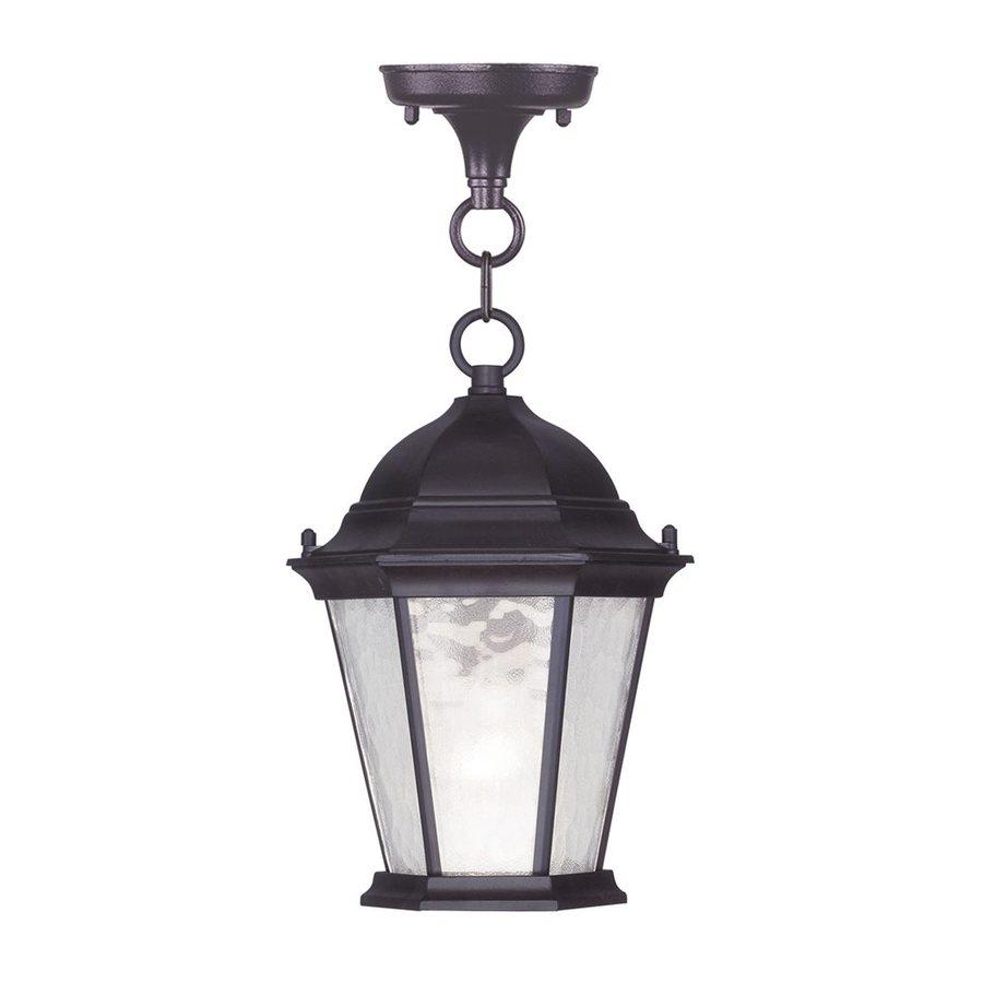 Livex Lighting Hamilton 16.5-in Bronze Outdoor Pendant Light