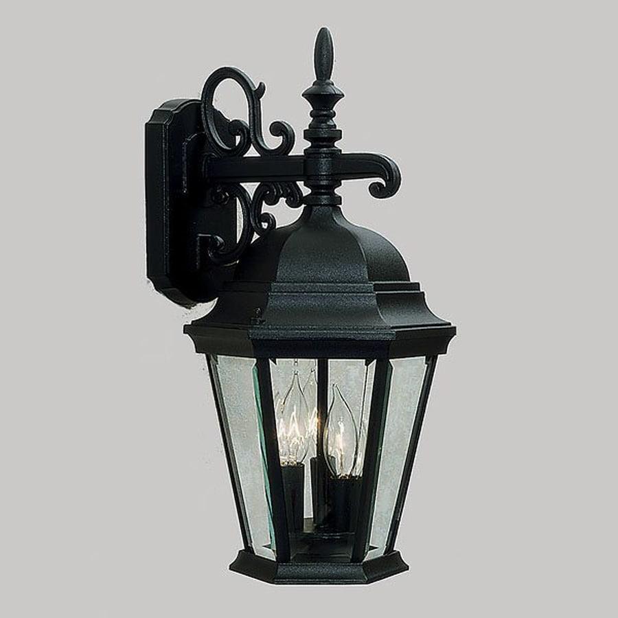 Livex Lighting Hamilton 18.5-in H Black Outdoor Wall Light