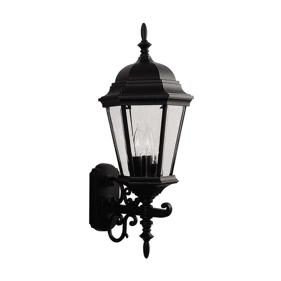 Livex Lighting Hamilton 23.5-in H Black Outdoor Wall Light