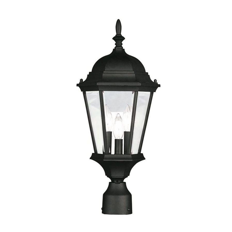 Livex Lighting Hamilton 21-in H Black Standard Post Light