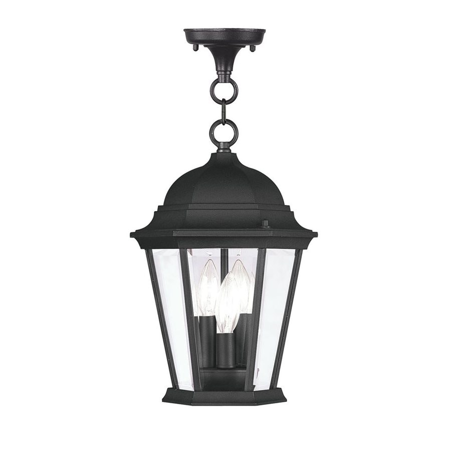 Livex Lighting Hamilton 14-in H Black Outdoor Pendant Light