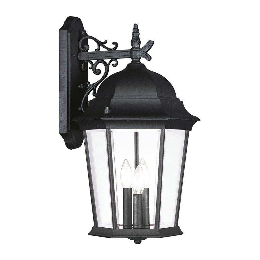 Livex Lighting Hamilton 23.25-in H Black Outdoor Wall Light