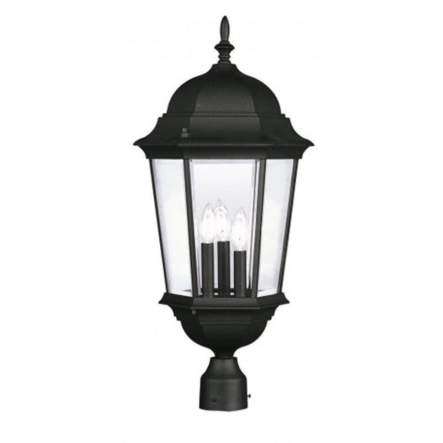 Livex Lighting Hamilton 27-in H Black Post Light