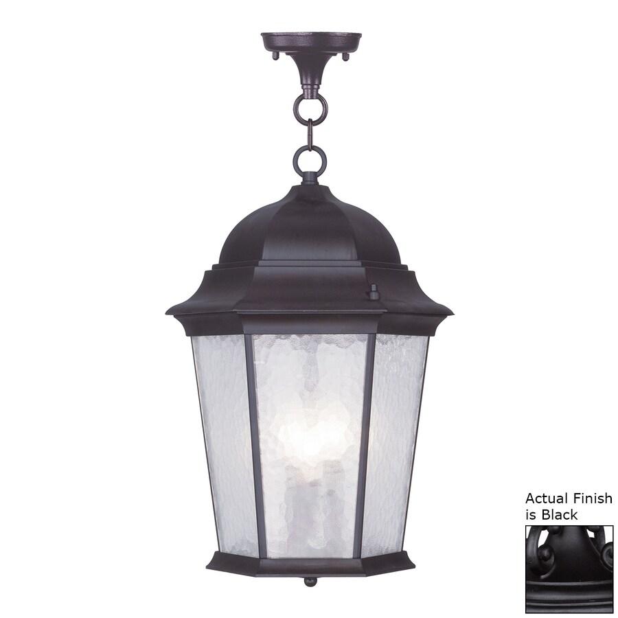 Livex Lighting Hamilton 19-in Black Outdoor Pendant Light