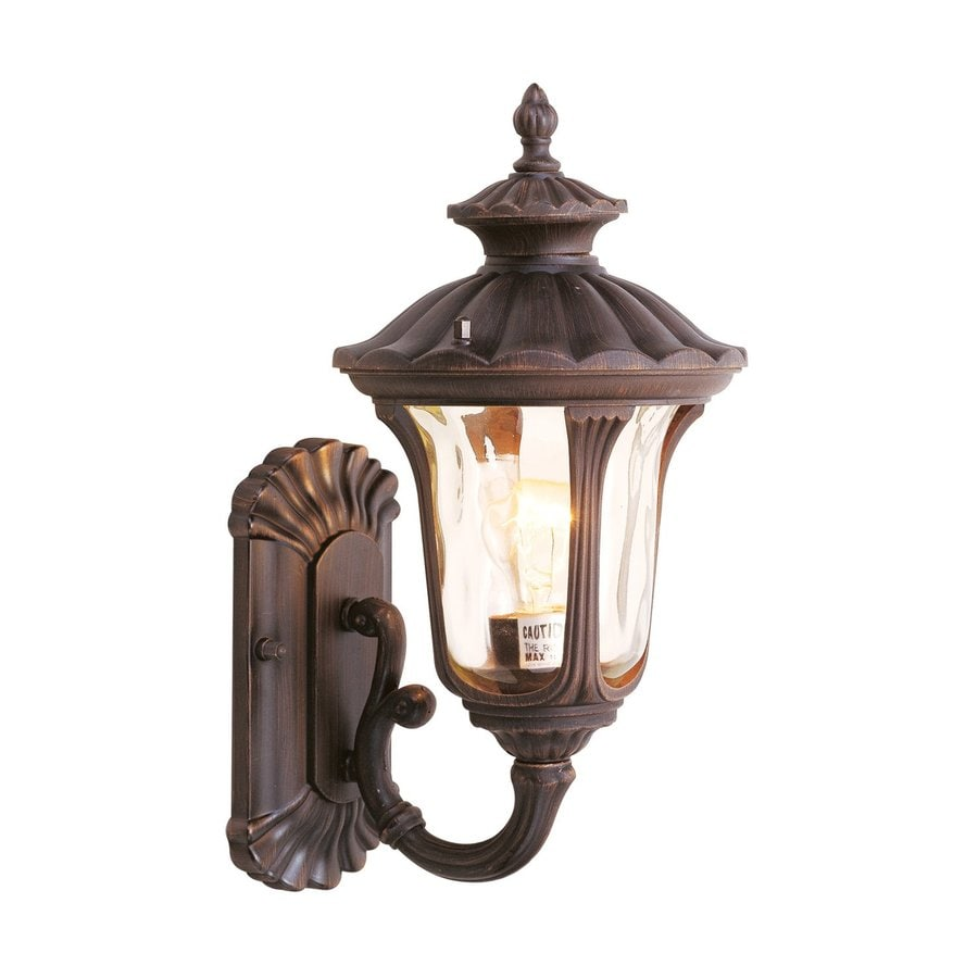 Livex Lighting Oxford 15.5-in H Imperial Bronze Outdoor Wall Light