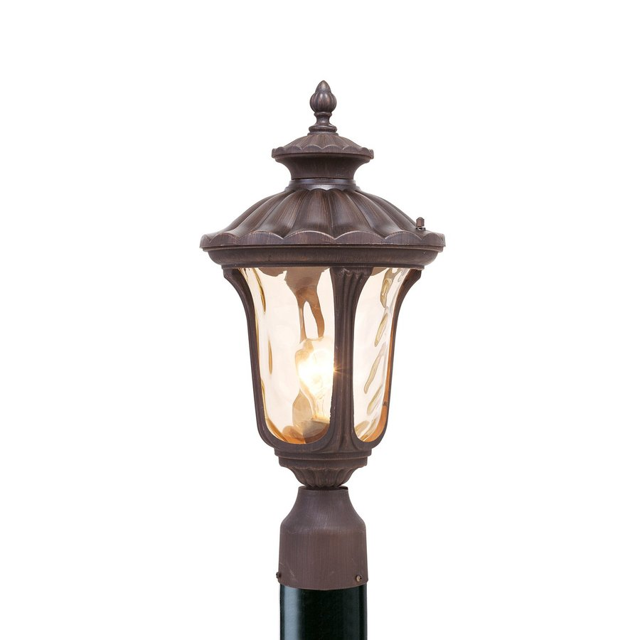 Livex Lighting Oxford 19-in H Imperial Bronze Standard Post Light
