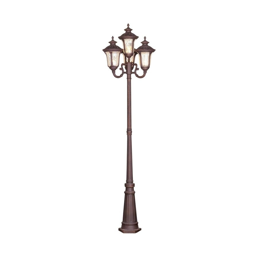 Livex Lighting Oxford 93-in H Imperial Bronze Standard Complete Post Light