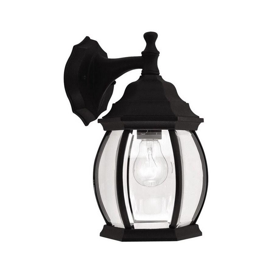 Livex Lighting Frontenac 12-in H Black Outdoor Wall Light